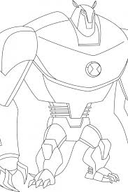 ben 10 ultimate alien coloring pages free printable