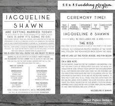 Fun Wedding Programs Fun Wedding Programs Wedding Program Printable Wedding Program Typography Wedding Program Digital Wedding Program 5 5 X 8 5 Programs