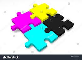 3d Cmyk Concept Cyan Magenta Yellow Stock Illustration 383752696