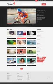 website template video website template 51988 video box content custom website template