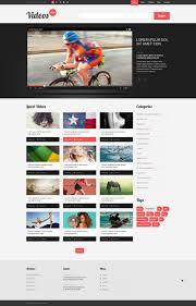 website template video website template 51988 video box content custom website template