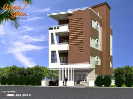Ground And First Floor House Elevation Designs Independent Floor House Design In 264m2 11m X 24m Apnaghar