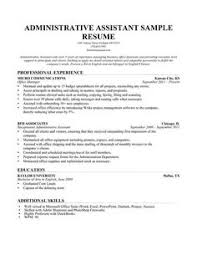 A Resume Template For A Personal Assistant. You Can Download It And ...