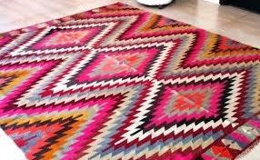 print rugs rug contemporary tribal pertaining to 2 round