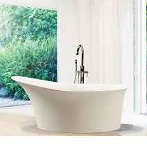 lily freestanding bathtub with built in pedestal and integrated slotted overflow with contemporary high