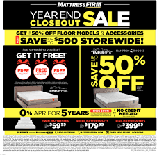 Year End Closeout Sale Mattress Firm