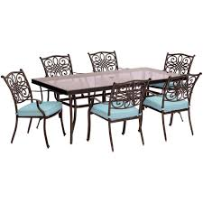 Aluminum Outdoor Dining Table Hanover Traditions 7 Piece Aluminum Outdoor Dining Set With
