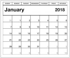 calendar january 2018 template january 2018 calendar template archives letter calendar