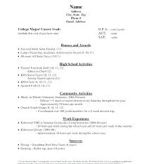 College Admission Resume Sample High School Resume For College