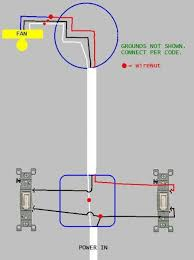 wiring bathroom exhaust fan light with two switches doityourself wiring bathroom exhaust fans with light switch