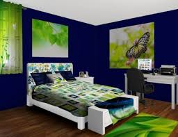 blue and green bedroom. Delighful And Navy Blue And Green Bedroom  For R