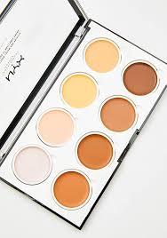 nyx professional makeup highlight n contour cream pro palette