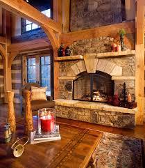 modern log cabin fireplace design fireplace the