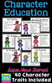 superhero themed character education posters character education adorable superhero character education posters writing prompts rewards more 40 character traits