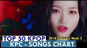 Top 50 Kpop Songs Chart February Week 2 2018 Kpop Chart