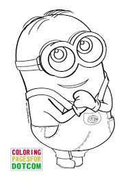Small Picture Coloring Pages Minion Kevin Coloring Page Free Printable Coloring