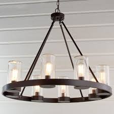 rustic round iron chandelier bamboo chandelier shade the appalachian rustic outdoor lighting