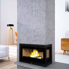 wood burning fireplace insert corner panama e