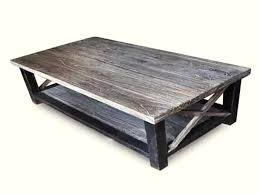 gray distressed wood coffee table