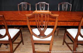 Regency Dining Set Table Chair Suite  Shieldback Chairs EBay - Shield back dining room chairs