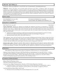 Pharmacist Sample Resume Pharmacy Student Resume Sample