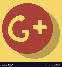 google plus button vector. Fine Button Flat Google Plus Icons On Background Vector Image In Google Plus Button Vector S