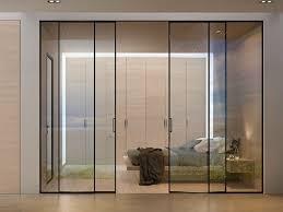 internal aluminium doors hlaf open