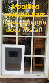 large rectangular dog door to suit glass or screen installation