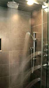 installing rain shower head shower installing a ceiling rain shower head