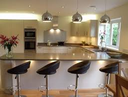 kitchen decoration small breakfast bar galley with spaces wall