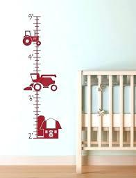 growth chart wall decal farm tractor vinyl sticker decals boy bedroom art decor giraffe flower g growth chart decal