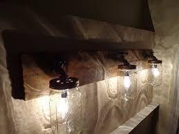 primitive bathroom lighting. primitive mason jar rustic bathroom vanity light fixture lighting