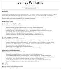 Resume Dental Assistant Englishor Com