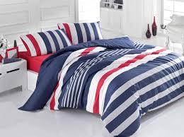stripe ranforce double quilt cover set es 121vcq22287 dark blue grey white red