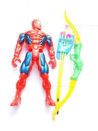 Đồ chơi siêu nhân nhện kèm c.ung tên và tên, đồ chơi hóa trang nhân vật hoạt  hình