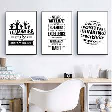Us 299 Asapfor Inspirational Quotes Teamwork Canvaskunst Poster And Prints Black And White Wall Pictures For Office Decoration Art In Painting