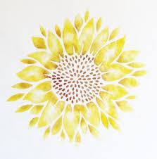 wall stencil large sunflower walls