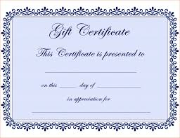 certificate template big templates free gift certificate