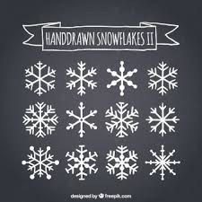 Hand Drawn Snowflakes On Blackboard Fensterbilder
