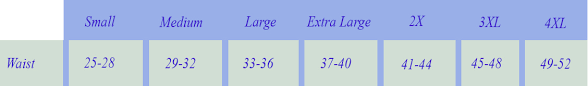 Belly Band Size Chart Mesh Bellyband