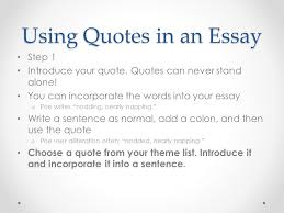 Quoting a quote