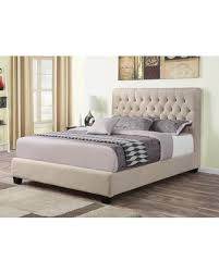 Coaster Chloe Collection 300007KE King Size Bed with Fabric Upholstery Tufted Headboard Sturdy Block Feet and Wood Frame Construction in from ...