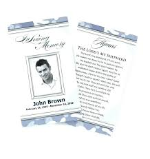 Funeral Prayer Cards Printable Prayer Cards For Funerals Funeral Memorial Card Template