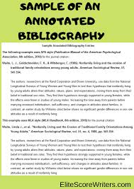 Annotated Bibliography Elitescorewriters