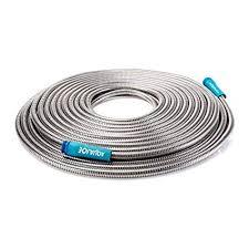 amazon sun joe ajsgh75 1 2 heavy duty spiral constructed stainless steel garden hose 75 foot garden outdoor