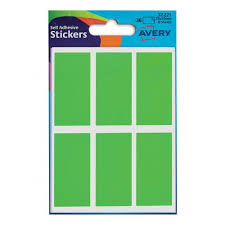 Avery Packets Of Labels Rectangular 50x25mm Neon Green 32 221 10x36 Labels