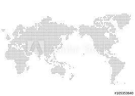 世界地図 ドット イラスト 黒 グラデーション日本中心 Adobe Stock