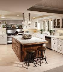 ... Inspiring Kitchen Design Ideas Using Custom Made Kitchen Islands :  Amazing U Shape White Kitchen Decoration ...