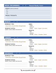 40 Effective Workout Log Calendar Templates Template Lab