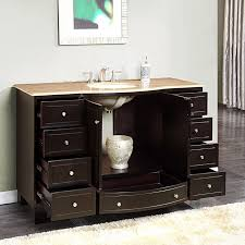 60 single sink bathroom vanity. Silkroad 60 Inch Bathroom Vanity Single Sink Dark Walnut Finish